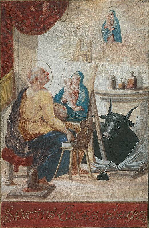 Stredoeurópsky majster zo začiatku 18. storočia - Sv.Lukáš maľuje Madonu