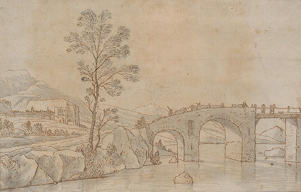 Autor z 18. storočia - Krajina s mostom
