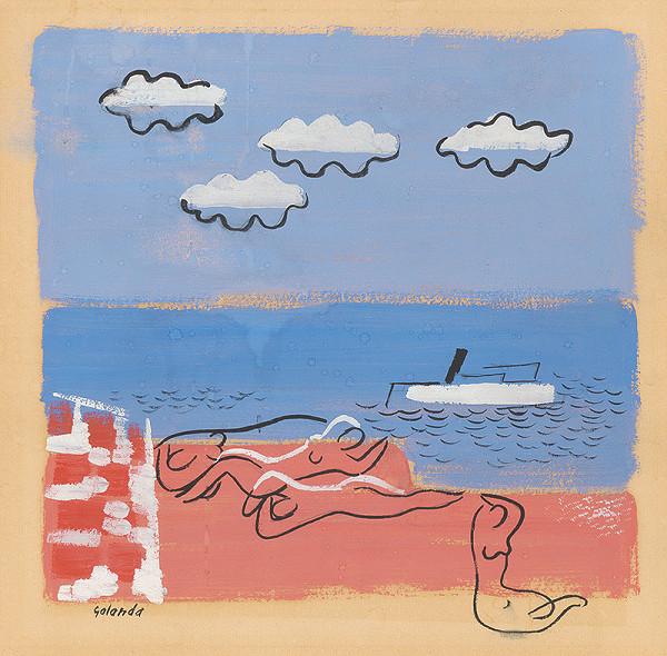 Mikuláš Galanda – Na morskej pláži