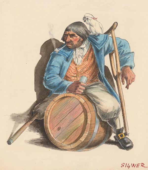 Fedor Klimáček – Muž sediaci na sude