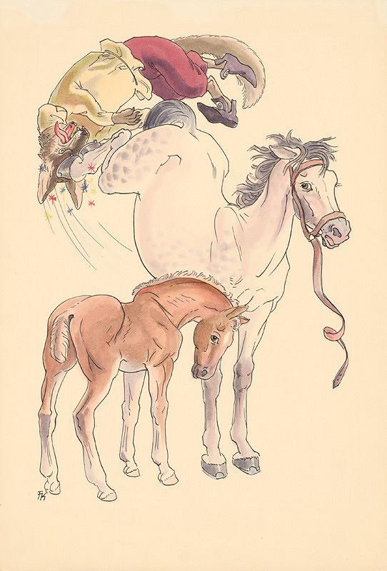 Fedor Klimáček – Kôň a žriebä