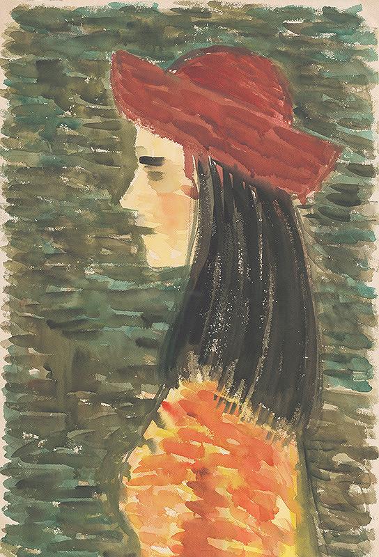Ervín Semian – Dievča v červenom klobúku