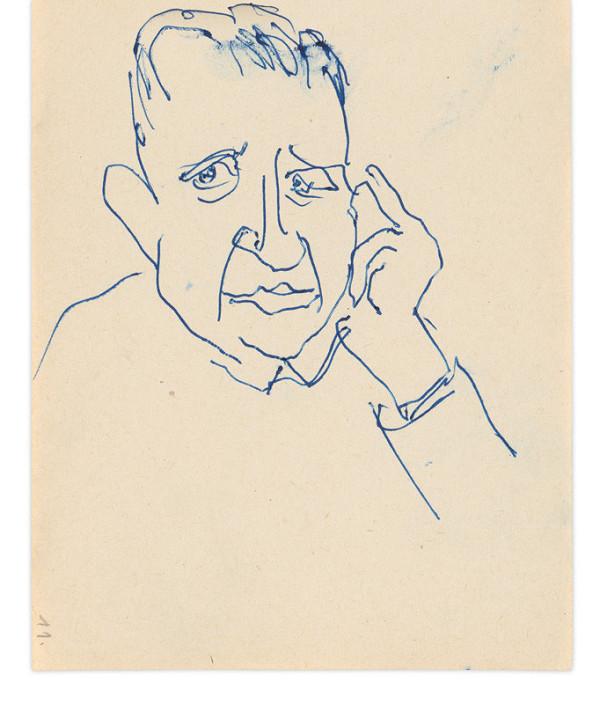 Eugen Nevan - Skicár - 14 listov - Portrét