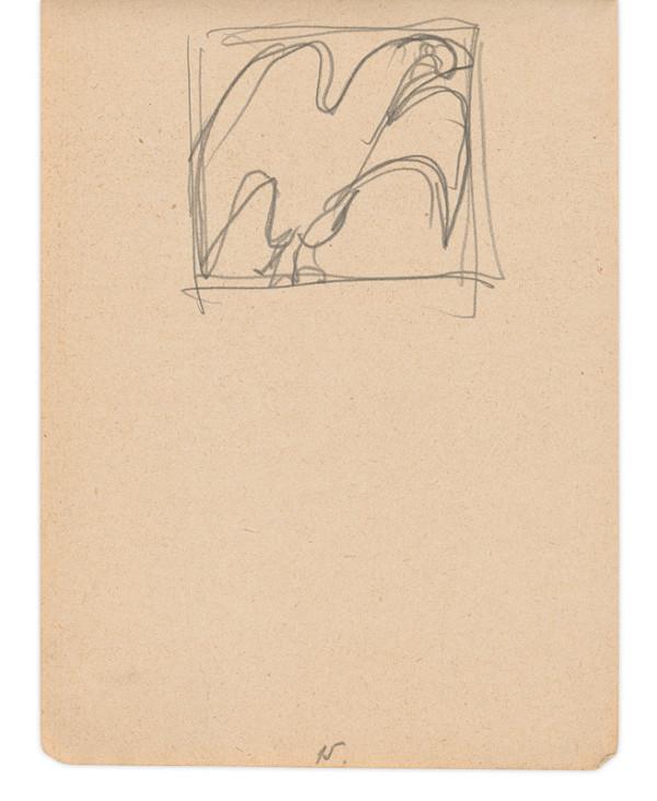 Eugen Nevan – Skicár II - 49 listov - Vták