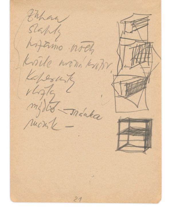 Eugen Nevan – Skicár II - 49 listov - Nákupný zoznam