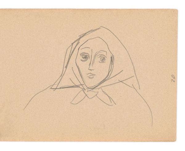 Eugen Nevan – Skicár II - 49 listov - Žena v šatke