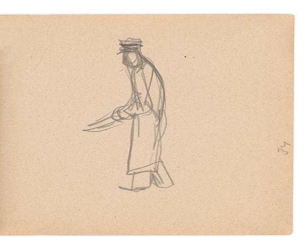Eugen Nevan – Skicár II - 49 listov - Muž s kosou