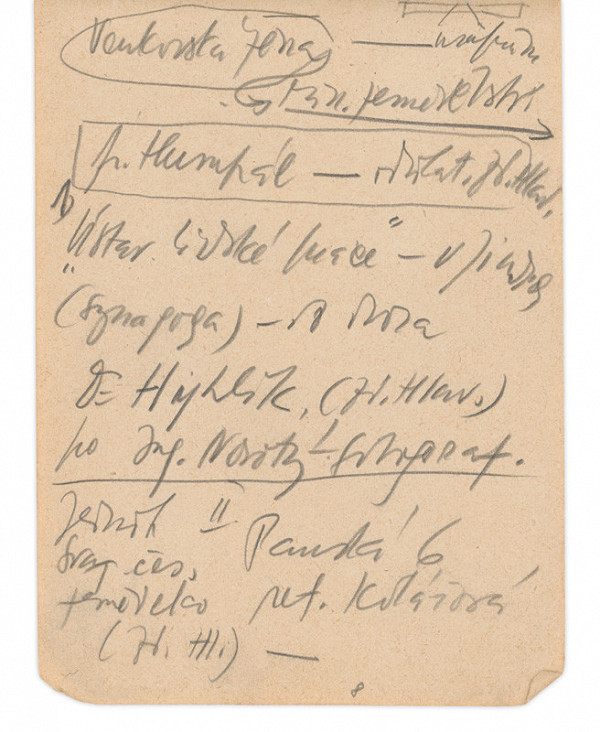 Eugen Nevan – Skicár II - 49 listov - Zápisky