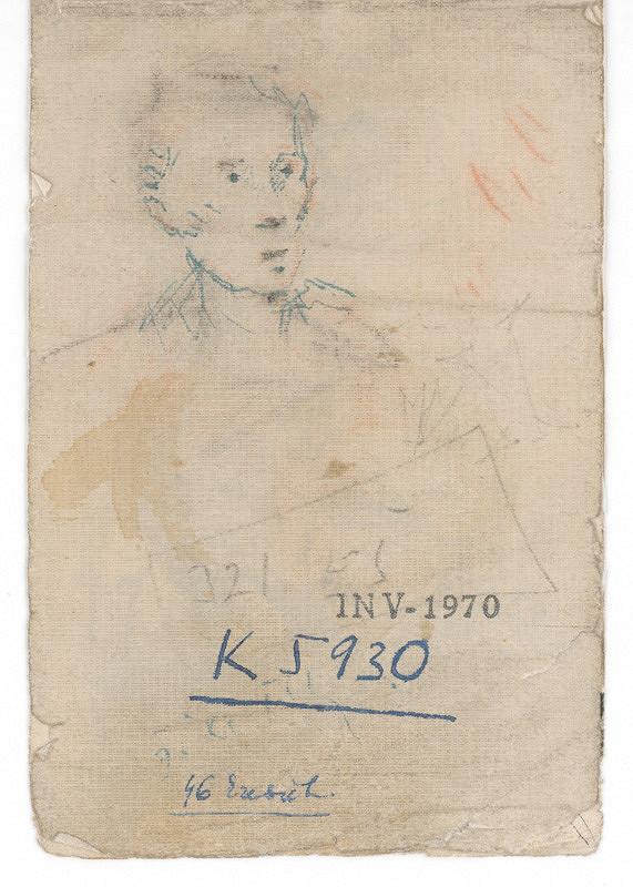 Ernest Špitz - Mužský portrét (autoportrét?)