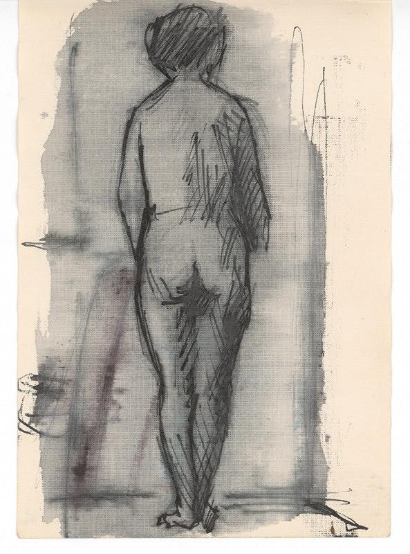 Ernest Špitz – Stojaci ženský akt zozadu
