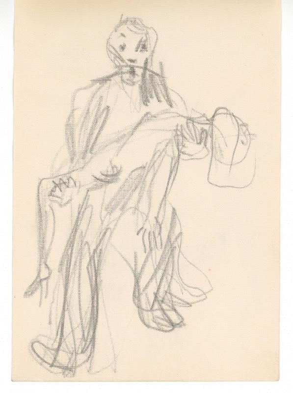 Ernest Špitz - Postava s mŕtvolou (raneným človekom) v rukách