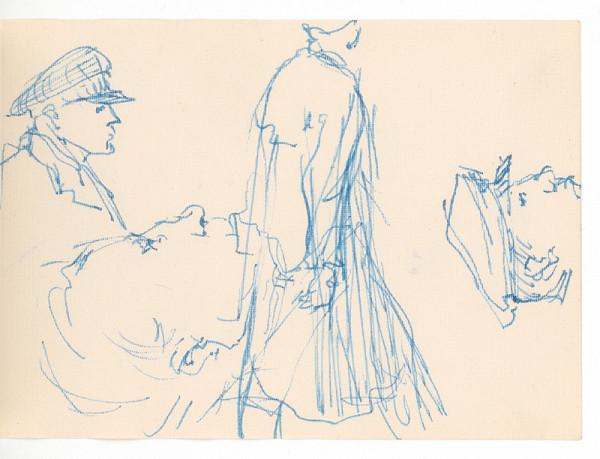 Ernest Špitz – Tri portréty a figurálny motív