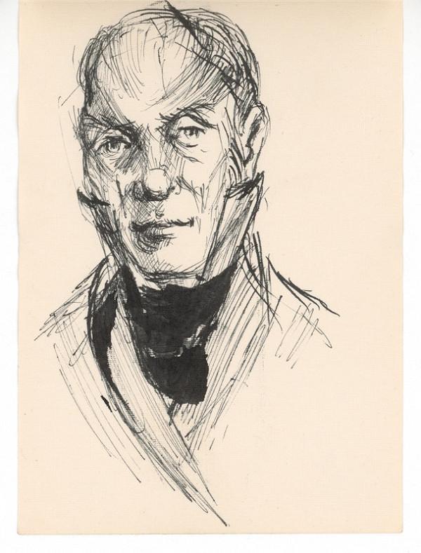 Ernest Špitz - Mužský portrét