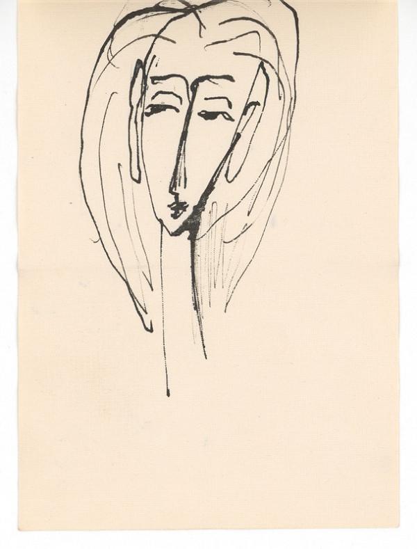 Ernest Špitz - Ženský portrét (akrobatka)