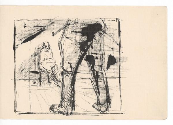 Ernest Špitz - Figurálna scéna (vojnová)