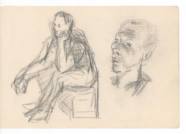 Ernest Špitz – Sediaca figúra a mužská hlava
