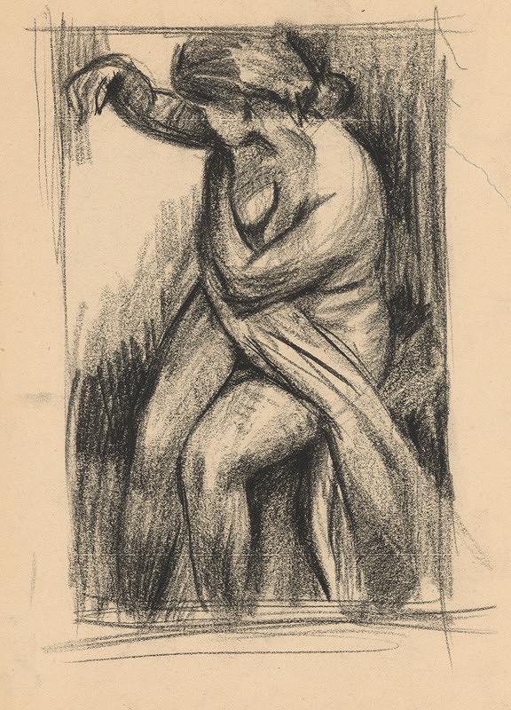 Ernest Špitz – Žena s drapériou