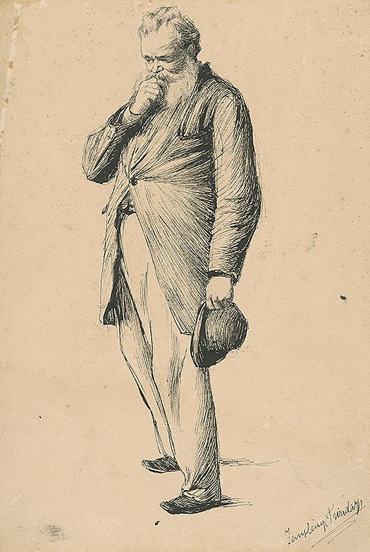 Teodor Zemplényi - Štúdia stojaceho starca I.