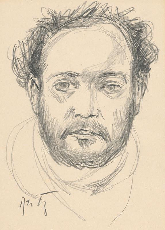 Ernest Špitz - Mužský portrét II.