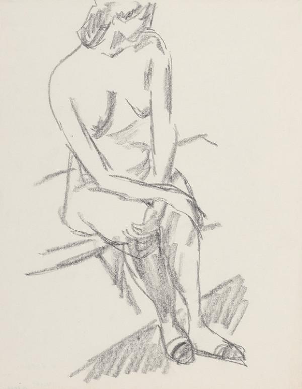 Eugen Nevan - Sediaci ženský akt II.