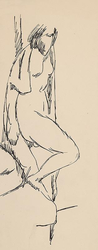 Eugen Nevan - Žena s drapériou