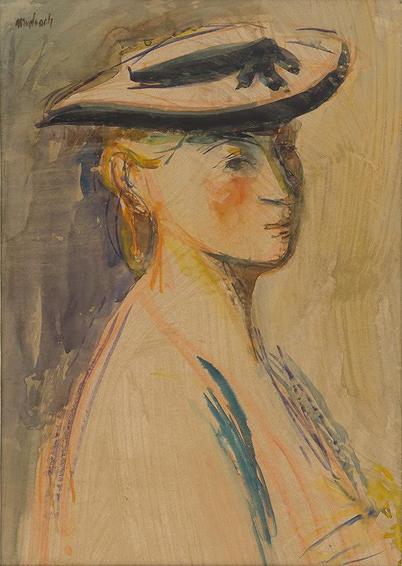 Ján Mudroch - Žena v klobúku