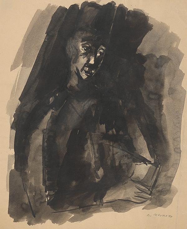 Eugen Nevan - Štúdia ku grafickému listu Nadčlovek III.