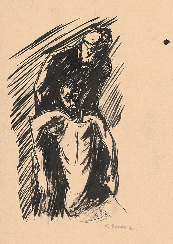 Eugen Nevan - Štúdia k milosrdnému samaritánovi X.