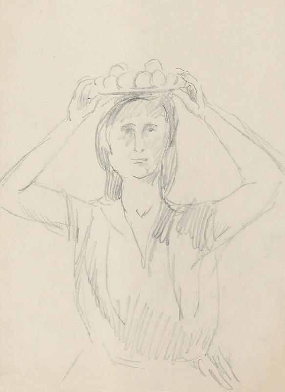 Eugen Nevan – Žena s misou ovocia
