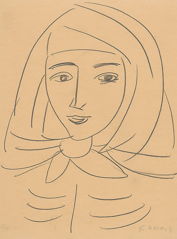 Eugen Nevan - Žena v šatke