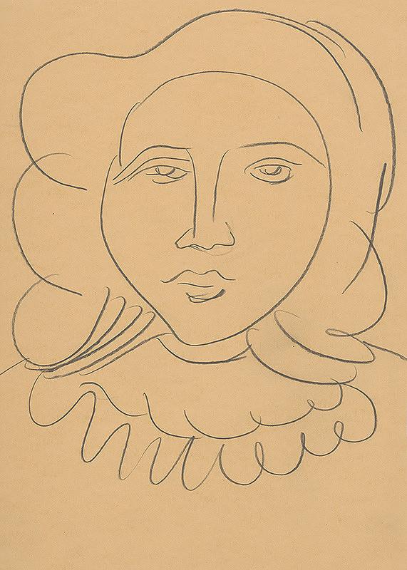 Eugen Nevan - Hlava mladej ženy