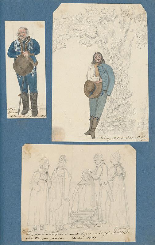 Stredoeurópsky maliar z 19. storočia - Scény z Horneho Baru. Príprava účesu Emílie Zichy Ferraris na ples.
