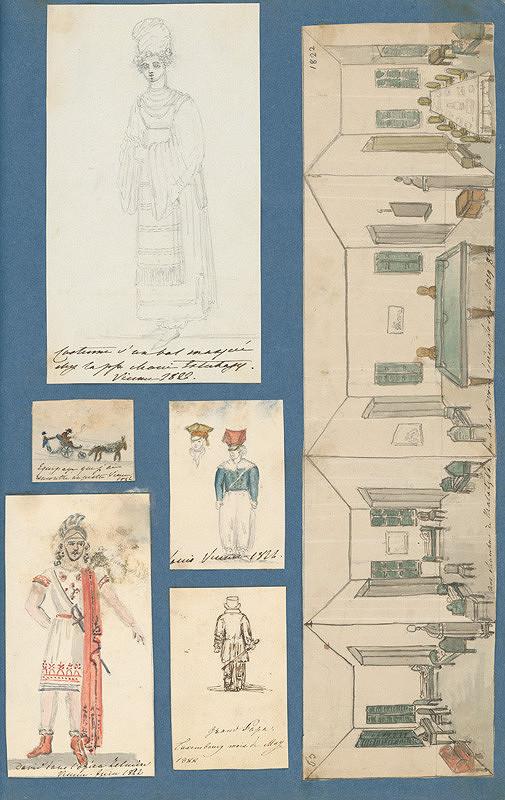 Stredoeurópsky maliar z 19. storočia, Henriette Odescalchi - Album kresieb z rokov 1817 - 1870