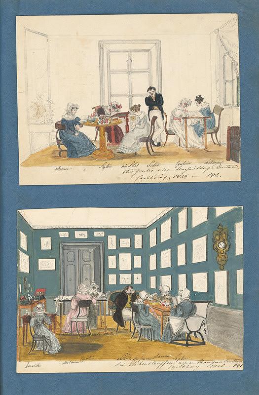 Henriette Odescalchi - Dámsky salón v kaštieli v Rusovciach