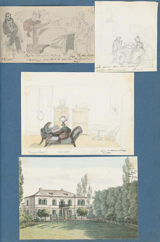 Stredoeurópsky maliar z 19. storočia – Sídlo rodiny Odescalchi v Meidnlingu. Scény zo života rodiny.