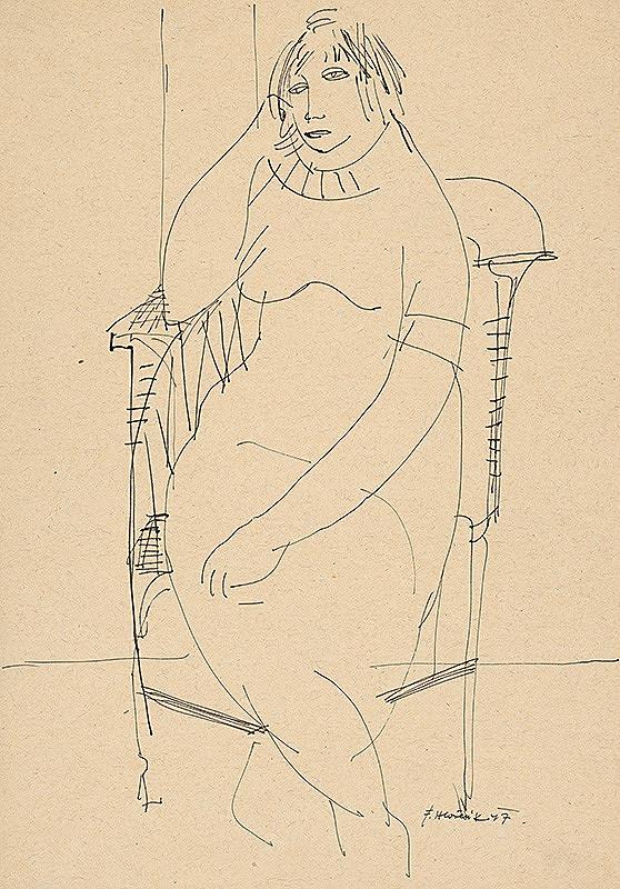 Ferdinand Hložník – Sediaca žena