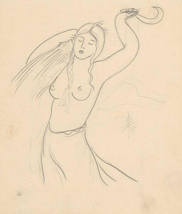 Mikuláš Galanda - Dievča s kosákom
