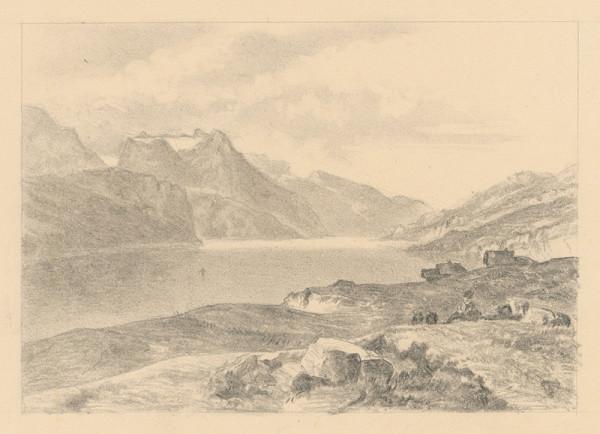 Jan Novopacký – Horská krajina s jazerom