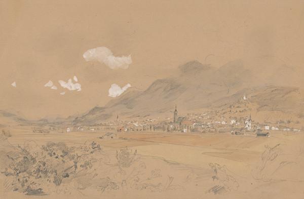 Jan Novopacký - Pohľad na dedinu pod horami