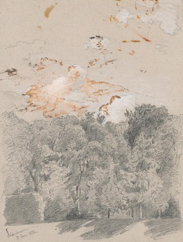 Jan Novopacký - Stromy - motív zo schönbrunnského parku