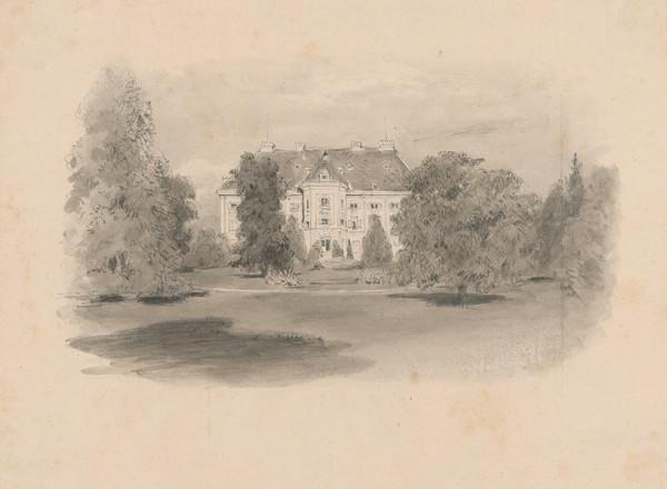 Jan Novopacký - Pohľad na panské sídlo z parku
