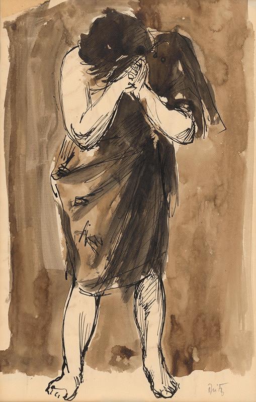 Ernest Špitz - Plačúca žena