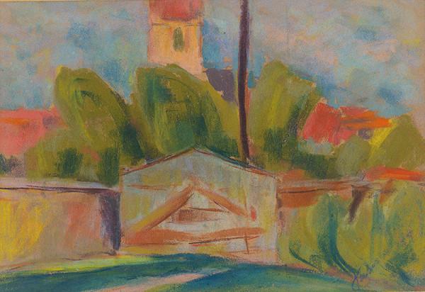Zolo Palugyay - Dedina s kostolom