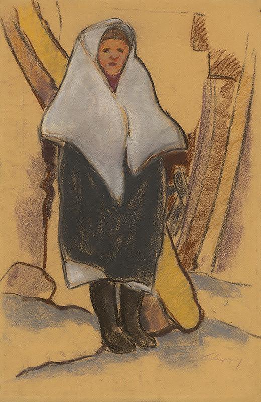 Zolo Palugyay - Dievča v bielom vlniaku