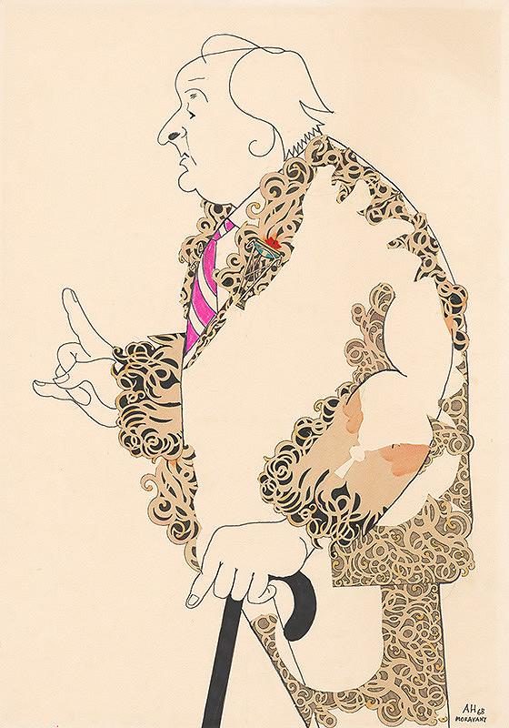 Adolf Hoffmeister - Karikatúrny portrét Alfonza Bednára