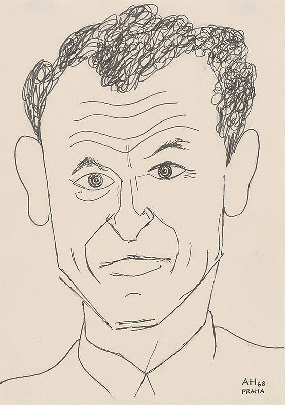 Adolf Hoffmeister – Karikatúrny portrét P.Karvaša II.