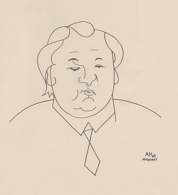 Adolf Hoffmeister - Karikatúrny portrét A.Bednára II.