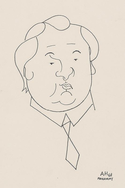 Adolf Hoffmeister - Karikatúrna kresba A.Bednára III.