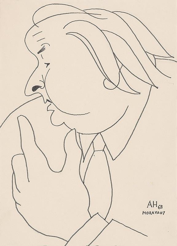 Adolf Hoffmeister – Karikatúrna kresba A.Bednára V.