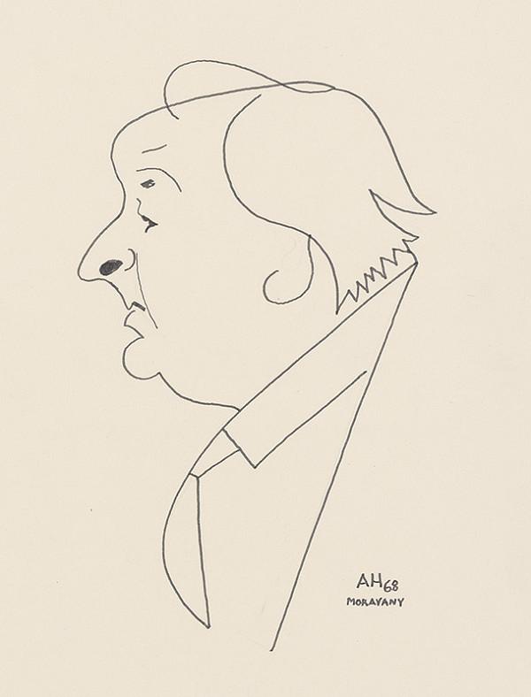 Adolf Hoffmeister - Karikatúrna kresba A.Bednára VI.